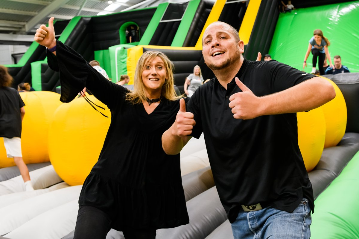 The big kids are giving the youngsters a run for their money at Sandwell's first indoor inflatable theme park – Air Mayhem!